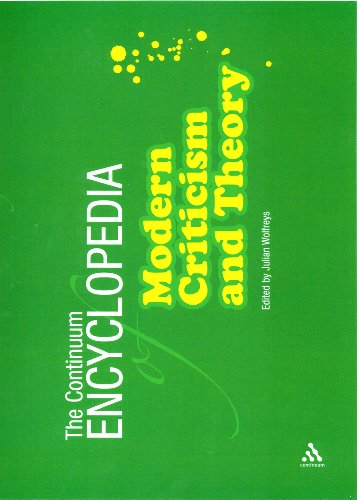 9780826418517: Continuum Encyclopedia of Modern Criticism and Theory