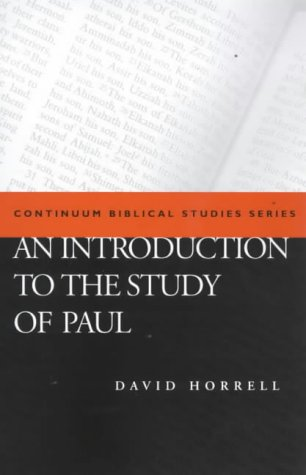 9780826449214: An Introduction to the Study of Paul (Continuum Biblical Studies)