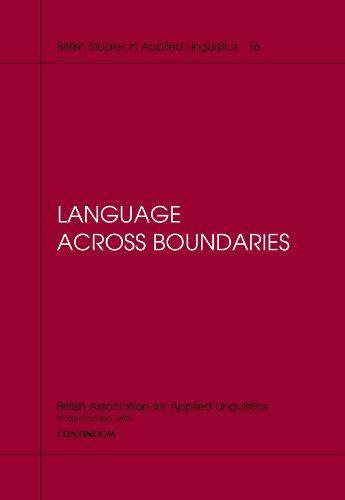 9780826455253: Language Across Boundaries (British Studies in Applied Linguistics)