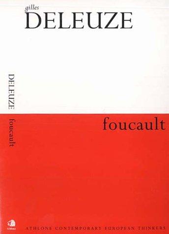 9780826457806: Foucault (Athlone contemporary European thinkers)