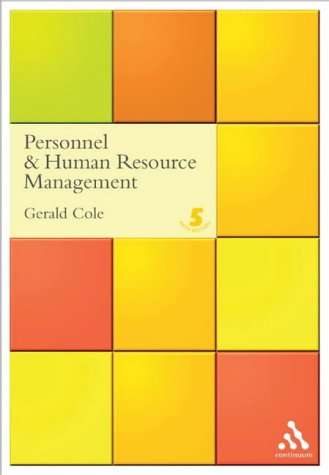 9780826458629: Personnel and Human Resource Management