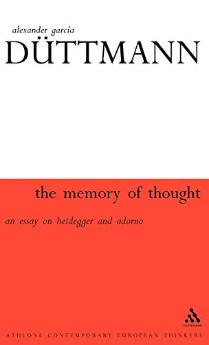 9780826459008: Memory of Thought (Athlone Contemporary European Thinkers)