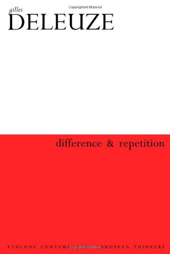 9780826459572: Difference and Repetition (Athlone Contemporary European Thinkers)