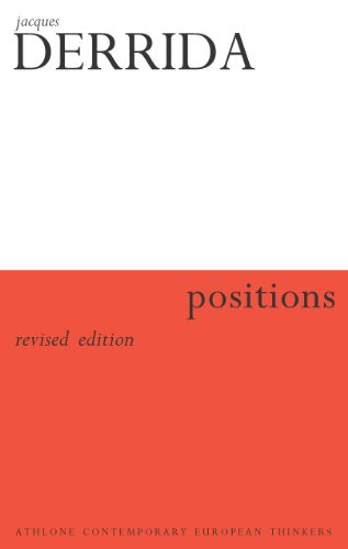 9780826459923: Positions (Athlone Contemporary European Thinkers)