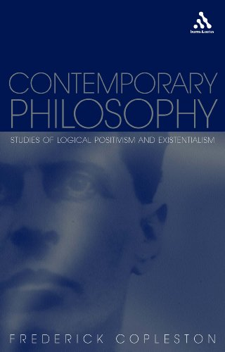 9780826465078: Contemporary Philosophy: Studies of Logical Positivism and Existentialism