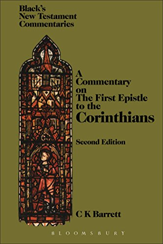 9780826478603: First Epistle to the Corinthians (NT in Context Commentaries)