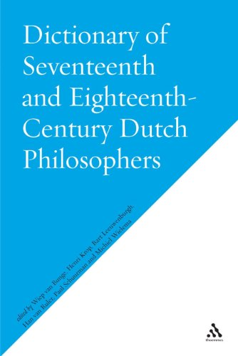 9780826481269: Dictionary of Seventeenth and Eighteenth-Century Dutch Philosophers