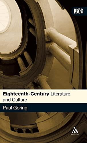 9780826485649: Eighteenth-Century Literature and Culture (Introductions to British Literature and Culture)