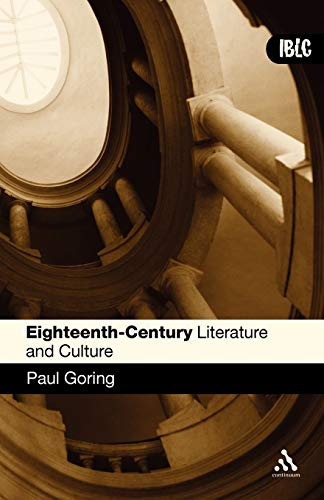 9780826485656: Eighteenth-Century Literature and Culture (Introductions to British Literature and Culture)