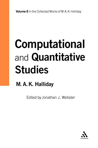 Computational and quantitative studies.: Halliday, M.A.K., Webster, Jonathan.