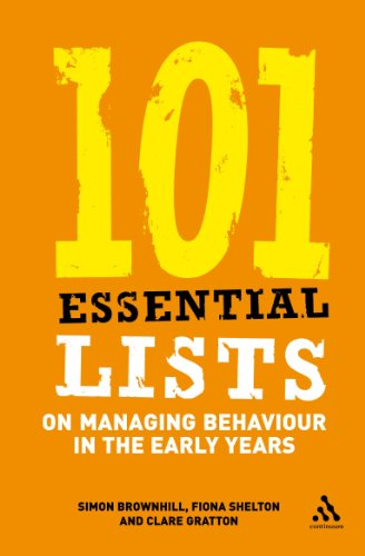 9780826489890: 101 Essential Lists on Managing Behaviour in the Early Years (101 Essential Lists (Continuum))