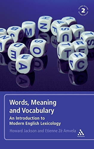 9780826490179: Words, Meaning and Vocabulary: An Introduction to Modern English Lexicology