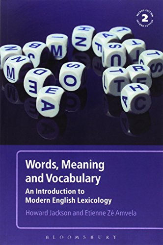 9780826490186: Words, Meaning and Vocabulary: An Introduction to Modern English Lexicology