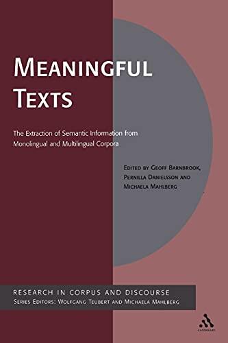 Meaningful Texts: Danielsson, Pernilla; Mahlberg, Michaela; Barnbrook, Geoff