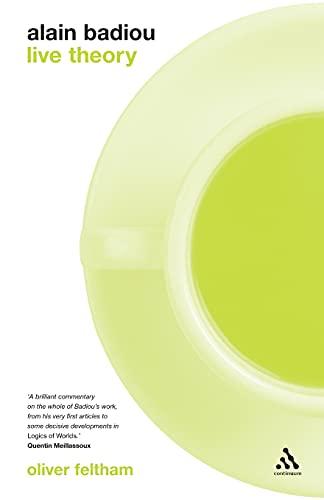 9780826496935: Alain Badiou: Live Theory