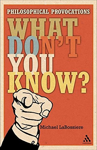 What don't you know ? : philosophical provocations.: LaBossiere, Mike.
