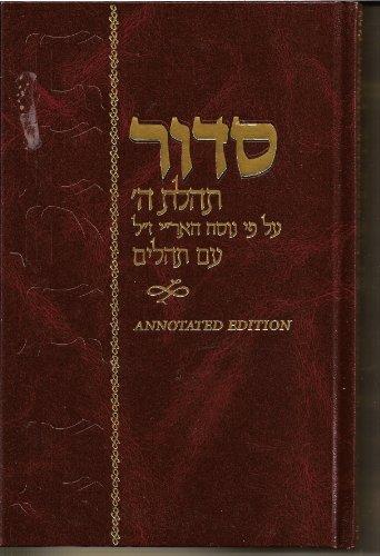 Siddur Annotated Hebrew Standard Size (Hebrew Edition): Rabbi Schneur Zalman
