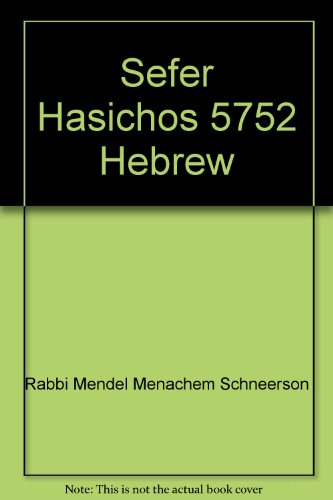 9780826657725: Sefer Hasichos 5752 Hebrew