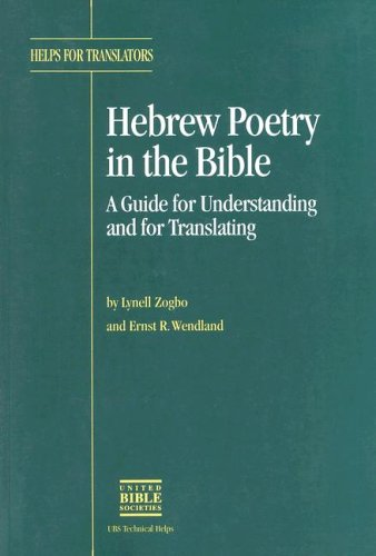 9780826700377: Hebrew Poetry in the Bible (Helps for Translators)