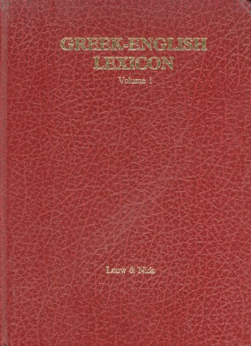 Greek-English Lexicon of the New Testament Based