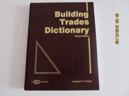 9780826904041: Building Trades Dictionary