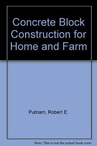 9780826905079: Concrete block construction