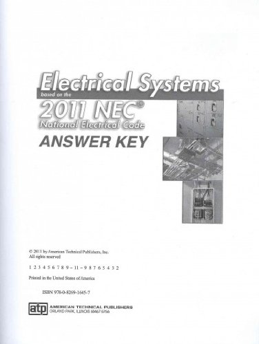 9780826916457: Electrical Systems Based on the 2011 NEC Answer Key
