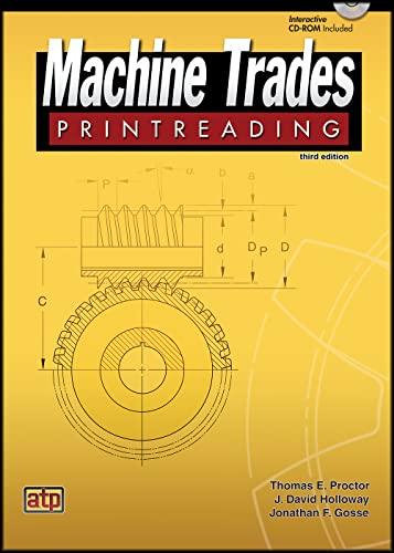 9780826918819: Machine Trades Printreading Third Edition