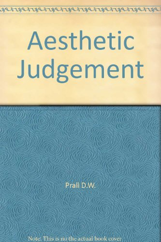 Aesthetic Judgment: Prall, David
