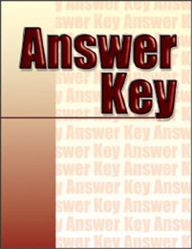 9780826930125: Welding Skills Workbook Answer Key