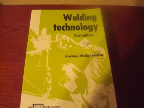 9780826930637: Welding Technology