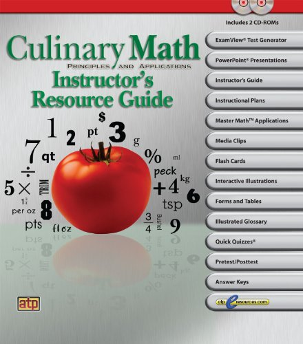 9780826942135: Culinary Math Principles and Applications Resource Guide
