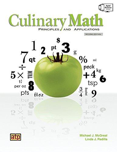 9780826942371: Culinary Math Principles and Applications