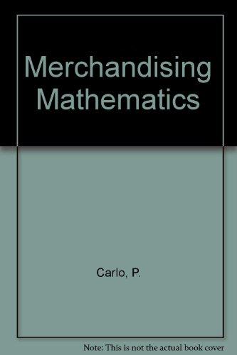 Merchandising Mathematics: Carlo, Patrick A.