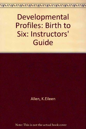 9780827333567: Developmental profiles: Birth to six