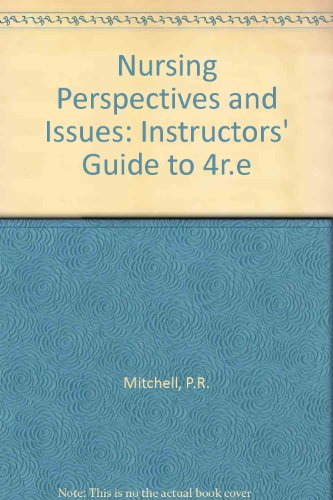 9780827334670: Nursing Perspectives and Issues: Instructors' Guide to 4r.e
