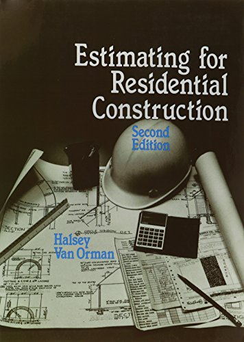 9780827336438: Estimating for Residential Construction