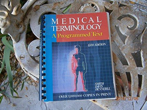 9780827345638: Medical Terminology: A Programmed Text