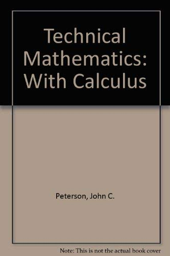 9780827345775: Technical Mathematics With Calculus