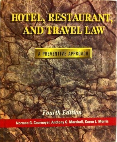 9780827352896: Hotel, Restaurant, and Travel Law: A Preventive Approach