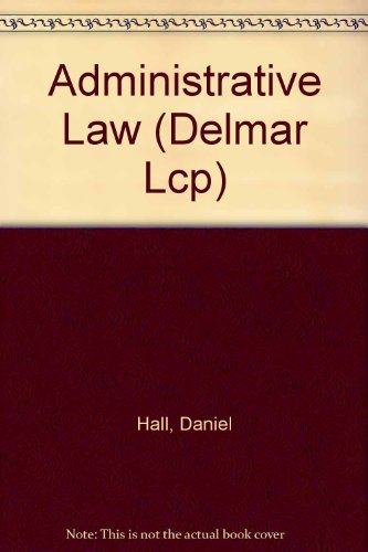 9780827355118: Administrative Law (Delmar Lcp)