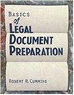 9780827367999: Basics of Legal Document Preparation