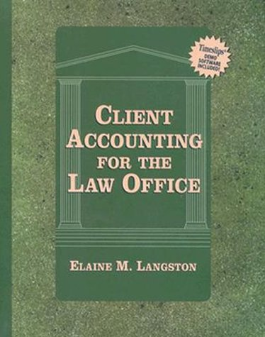 9780827374430: Client Accounting for the Law Office (Lq-Paralegal)