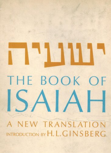 The Book of Isaiah: A New Translation: Gross, Chaim] Bible. O.T. Isaiah. English. Jewish ...
