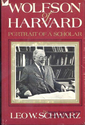 9780827600980: Wolfson of Harvard: Portrait of a scholar