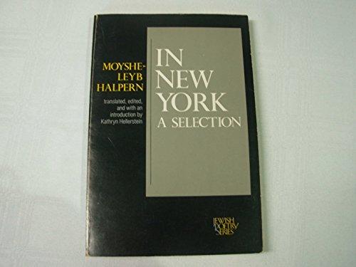 9780827602106: In New York: A Selection (Jewish Poetry Series)