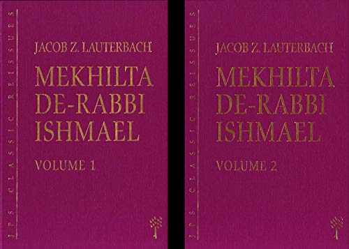 9780827606784: Mekhilta de-Rabbi Ishmael, 2 volume set