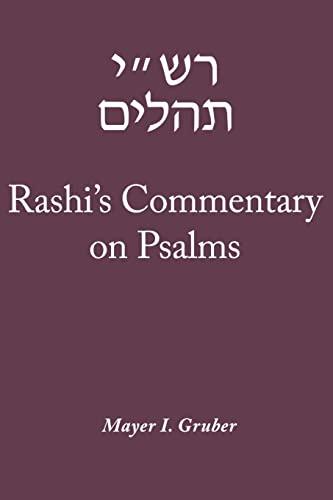 9780827608726: Rashi's Commentary on Psalms