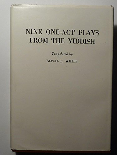 9780828314213: Nine One-Act Plays from the Yiddish