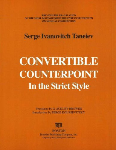 9780828321846: Convertible Counterpoint in the Strict Style: The English Translation of the Most Distinguished Treatise Ever Written on Musical Composition